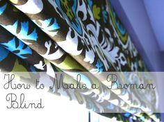 After some trial and error the second Roman blind is finished !                 It is hanging in my daughter's roo...