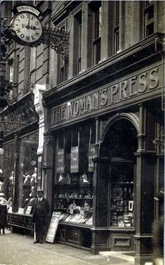 The Woman's Press shop, Charing Cross Road, London, 1912.