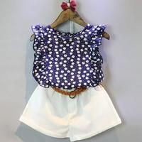 Summer Floral Chiffon Polka Dot Baby Clothes Sets Girl Sleeveless T-shirt Tops+Shorts Toddler Kids Outfits Girls Summer Outfits, Baby Outfits, Short Outfits, Summer Girls, Summer Baby, Summer Clothes, 2017 Summer, Summer Europe, Spring Summer