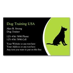 Professional dog trainer business card card pinterest business dog training business cards colourmoves