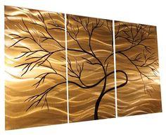 Metal Wall Art Abstract Decor Contemporary Modern Sculpture Hanging. $99.00, via Etsy.