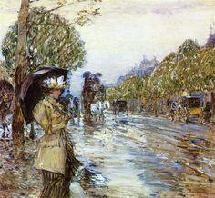 Childe Hassam Rainy Day, Paris 1893