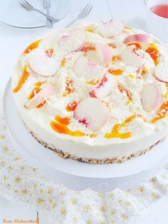 Meine Küchenschlacht: Wildpfirsich no bake Cheese Cake mit Aprikosen Sauce