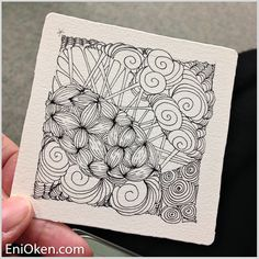 Learn how to create Zentangle®️️ • enioken.com
