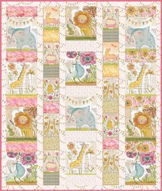 Quilt Kit TOP Menagerie - Hello World by Cori Dantini + Free Pattern