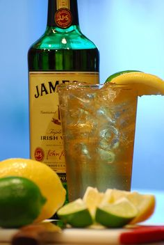 Summertime cocktail of choice - a Skinny Ginger! Jameson Irish Whiskey, Ginger Ale and Lime.