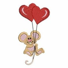 Valentine Animal 7 - 4x4 | What's New | Machine Embroidery Designs | SWAKembroidery.com Ace Points Embroidery
