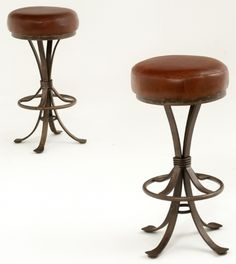 Metal Bar Stools Round Forged