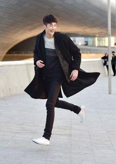 Street style: Byun Woo Seok shot by Baek Seung Won at Seoul Fashion Week Fall 2015