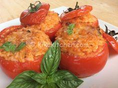 Pomodori ripieni di riso gratinati in forno   Kikakitchen