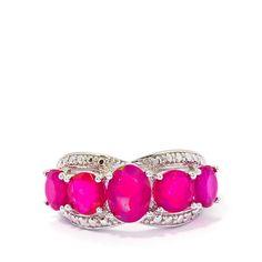 Cosmic Purple Opal Ring in Sterling Silver
