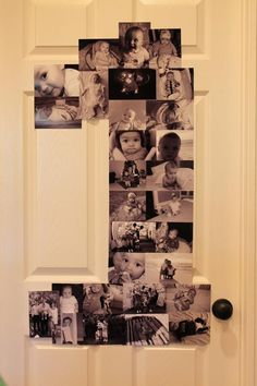 First year in photos birthday party decor- Pinterest inspired!