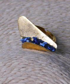 Δαχτυλίδι με Διπλωμένο Φύλλο   Vaya Fashion Boutique Sapphire, Rings, Jewelry, Jewlery, Jewerly, Ring, Schmuck, Jewelry Rings, Jewels