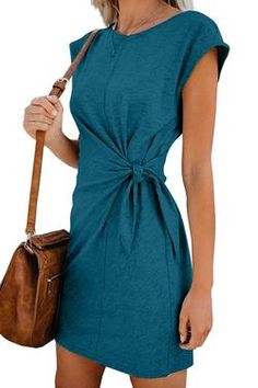May 2020 - Solid Women Holiday Daily Fashion Mini Dresses Look Fashion, Daily Fashion, Fashion Tips, Classy Fashion, School Fashion, Men Fashion, Casual Dresses, Dresses For Work, Mini Dresses