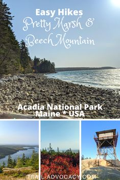 Most people spend their time on the east side of Acadia National Park. Beech Mountain and Pretty Marsh are great reasons to check out the west side! #acadianationalpark #maine #hiking #travel #nationalparks Acadia National Park Hiking, National Parks Map, National Park Posters, Solo Travel, Travel Usa, Travel Info, Travel Tips, Beech Mountain, Travel General
