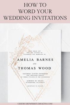 9 Best Wedding Invitation Wording Examples Images