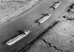 Dummy landing craft used as decoys in south-eastern harbours in the period before D-Day.