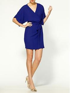 Ark & Co. Short Sleeve Wrap Dress | Piperlime - royal blue $60