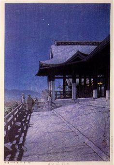 Kawase Hasui Kiyomizu Temple, Kyoto 1933 Zen Dirt, Zen…