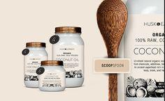 Coconut Oil Packaging Design Superfood, Packaging Design, Coconut Oil, Organic, Bottle, Flask, Design Packaging, Package Design, Jars