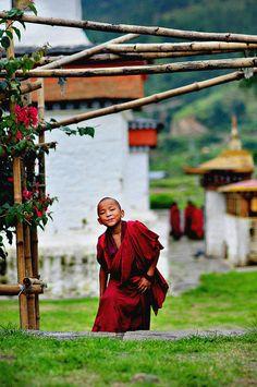 Punakha Dzongkhag . Bhutan #buddhist #buddhism #monk