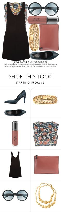 """PINAFORE DRESSES"" by noraaaaaaaaa ❤ liked on Polyvore featuring Loriblu, Revlon, Glamorous, New Look, Jil Sander, Tom Ford and Marco Bicego"