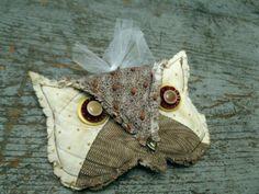 one of a kind antique OWL / primitive ornament by AntiqueShopGirl, $16.00