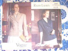 Vogue Pattern  2491    -    Ralph Lauren  -      Size:  12-14-16  -    Uncut