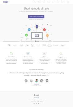 Droplr homepage