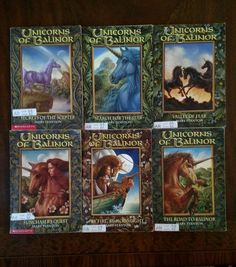Lot of 6 UNICORNS of Balinor Paperback Chapter Books by Mary Stanton 1- 6  AR