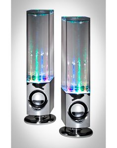 $29.99 LED Watershow Speakers from Spencers Gifts, great visual speakers