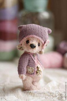 Мишки Тедди ручной работы. Ярмарка Мастеров - ручная работа. Купить Оливия. Handmade. Сиреневый, мишка-тедди, вискоза