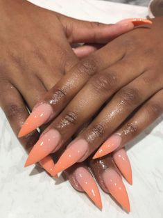 Peache & Nude acrylicWant more?! Follow Pinterest @Beauteousvision✨