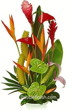 Flowers Arrangement Pictures premium tropical flowers arrangement | party ideas | pinterest