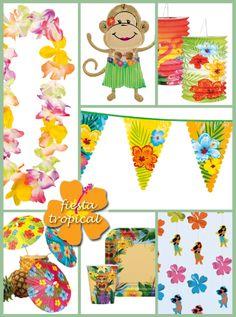 decoracion tropical para fiestas - Buscar con Google
