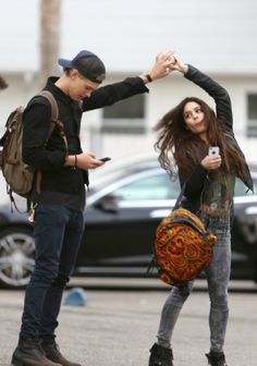 vanessa hudgens and austin butler in parking lot - Google Search