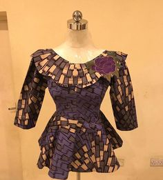Copy These Stylish And Beautiful Ankara Peplum Tops - Ankara collections brings the latest high street fashion online African Lace Dresses, Latest African Fashion Dresses, African Print Fashion, Women's Fashion Dresses, Girl Fashion, Ankara Peplum Tops, Ankara Dress Styles, African Blouses, African Tops