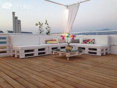 Pallet Roof Terrace Lounge Lounges & Garden Sets Pallet Terraces & Pallet Patios