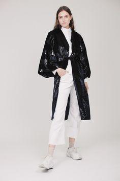 Striped Kimono Long - Black by MAUD | VILLOID Long Black, Duster Coat, Kimono, News, Sweaters, Jackets, Fashion, Down Jackets, Moda