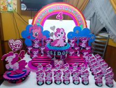 fiesta de my little pony | Related to DECORACION CON ICOPOR MY LITTLE PONY FIESTAS INFANTILES Little Pony Birthday Party, My Little Pony Party, Birthday Parties, 7th Birthday, Fiesta Little Pony, Mini Pony, My Lil Pony, Sofia Party, Little Poney