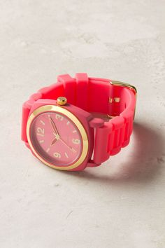 Like the watch in hot pink too!