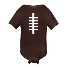 Football Stripes Personalized Baby Clothing. Available in various colors to match your favorite football team. $14.99