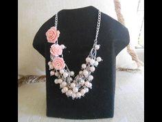 Como hacer un collar de nudo con perlas y cadena. How to make a necklace with beads and chain knot . - YouTube