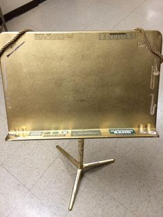 The Golden Music Stand Award for any outstanding or deserving student! Great for middle school band!!