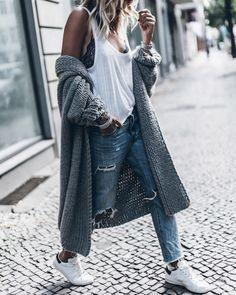Tank top: le fashion image blogger cardigan white top lace bra black bra grey cardigan ripped jeans