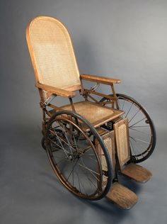 Vintage Wheelchair... We have come a long ways, haven't we?  Still, we must keep advancing technology and pushing the envelope!