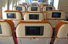 Use SeatGuru or better yet read Johnny Jet's Blog on how to get the best seats on the airplane, maybe even upgrade to 1st class