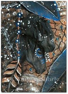 Majestuosos caballos abstracto espíritu caballo por AmyLynBihrle