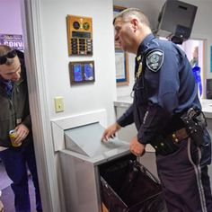 Our Products in Action - Prescription Drug Drop Boxes by American Security Cabinets