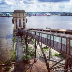 Abandoned power plant view from top of coal conveyor  Visit my Abandoned America website for more  by abandoned_america